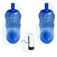 dos bidones pet 20 litros mas dispenser usb
