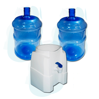 dos garrafones 20 litros mas dispenser plástico