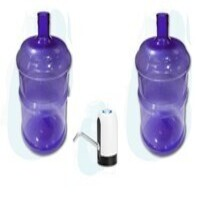 dos bidones pet 10 litros mas dispensador usb