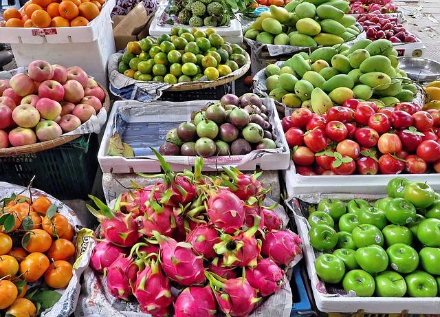 agua en frutas y verduras